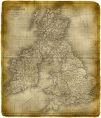 Old Map Of The Great Britain — Stock Photo