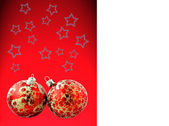 Red christmas balls with texture — Stock Photo