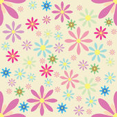 Vector floral background Seamless pattern — Stock Vector