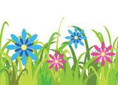 Seamless spring grass vector — Stock Vector