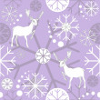 Winter deer. Vector colorful pattern background. - Stock Vector
