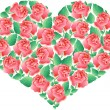 Heart with roses - Stock Vector