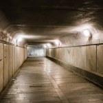 Old abandoned underground tunnel — Stock Photo