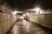 Old abandoned underground tunnel — Stock Photo