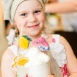 Little girl with hand made cocktail — Stock Photo