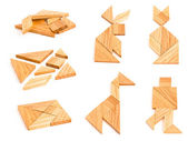 Isolated tangram with few figures — Stock Photo