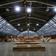 Stock Photo: Skate park symmetric horisontal interior