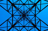 High power line pattern — Stock Photo