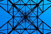 High power line pattern — Stock Photo