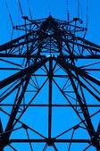 High power line viewed bottom — Stock Photo