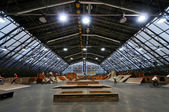 Skate park symmetric horisontal interior — Stock Photo