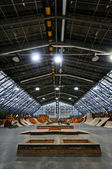 Skate park symmetric vertical interior — Stock Photo