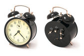 Old black alarm clock — Stock Photo