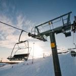 Ski-lift support on ski resort — Stock Photo