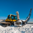Stock Photo: Snowcat for making ramps