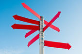 Multi-directional red sign — Stock Photo