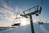 Ski-lift support on ski resort — Stock Photo