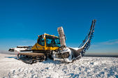 Snowcat for making ramps — Stock Photo
