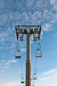 Top part of ski-lift support — Stock Photo