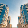 Symmetrical house towers - Stock Photo