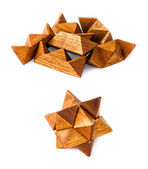 Rhombic dodecahedron puzzle — Stock Photo