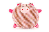 Funny hand made plush pig — Stock Photo