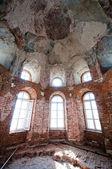 Old abandoned church interior — Stock Photo