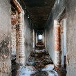 Corridor in abandoned house — Stock Photo