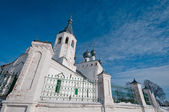 Church on cloudscape background — Stock Photo