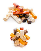 Wooden geometric puzzle — Stock Photo