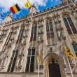 Bruges, town hall — Stock Photo