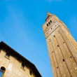 Pordenone, bell tower and ancient building — Stock Photo