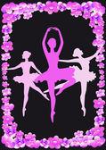 Pink ballerina — Stock Vector