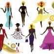 Fashionable women — Stock Vector