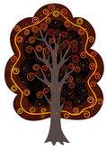 Декоративное дерево — Stock Vector