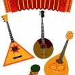 Stock Vector: Folk music instruments