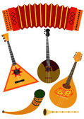 Folk music instruments — Stock Vector