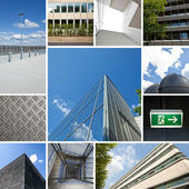 Office building futuristic architecture collage energy — Stock Photo