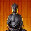 Buddha Buddhismus warm gold Statue Gott Feng-Shui Asien - Stock Photo