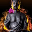 Stock Photo: BuddhBuddhismus qualm orchidee Statue Gott Feng-Shui Asien