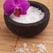 Zen massage asien harmonie salz meer orchidee — Stock Photo
