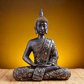 Buddha Buddhismus zen gold Statue Gott Feng-Shui Asien — Stock Photo