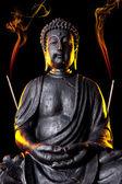 Buddha Buddhismus räucherstäbchen Statue Gott Feng-Shui Asien — Stock Photo