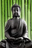 Buda buddhismus zen estatua de oro gott feng-shui asien — Foto de Stock