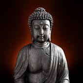 Buda buddhismus zen orchidee estátua gott feng-shui asien — Foto Stock