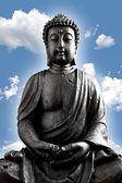 Buddha Buddhismus zen wolken Statue Gott Feng-Shui Asien — Stock Photo