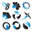 3D Vector Logo Forms — Stock Vector
