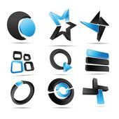 3d vektor logotypen former — Stockvektor