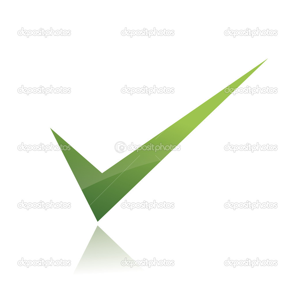Vector verde x c...X And Check Icon
