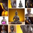 Buddha Collage — Stock Photo